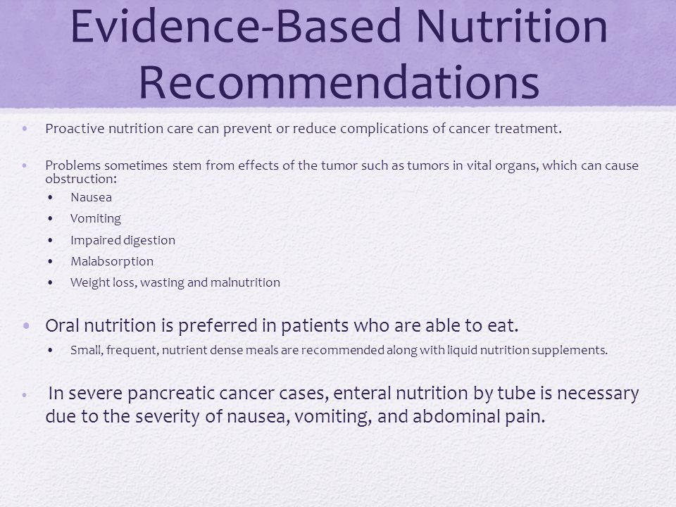 Case Report: Nutrition Support in Pancreatic Cancer - ppt ...