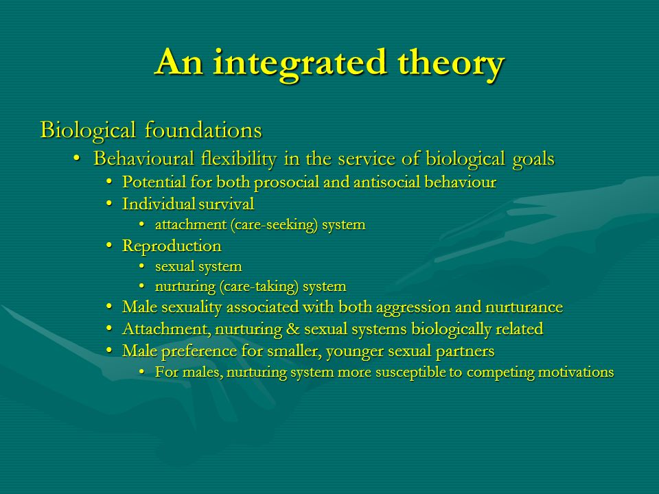 An integrated theory Biological foundations