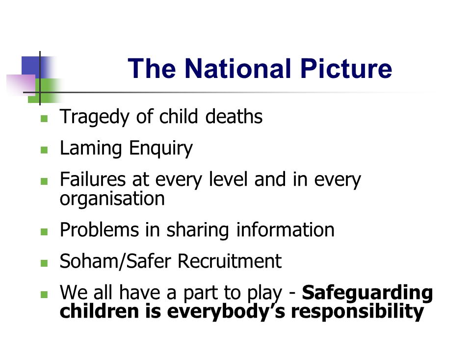 The National Picture Tragedy of child deaths Laming Enquiry