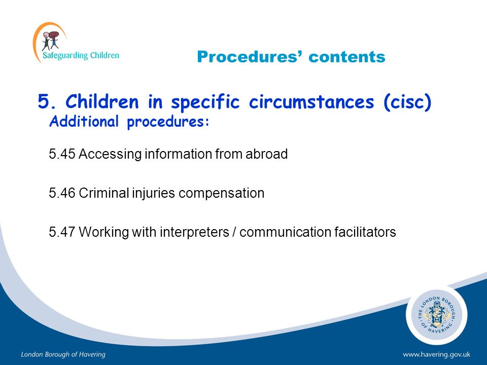 5. Children in specific circumstances (cisc)