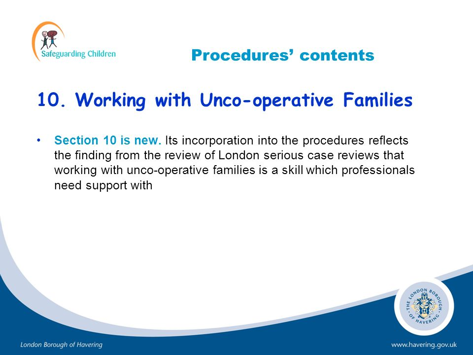 10. Working with Unco-operative Families