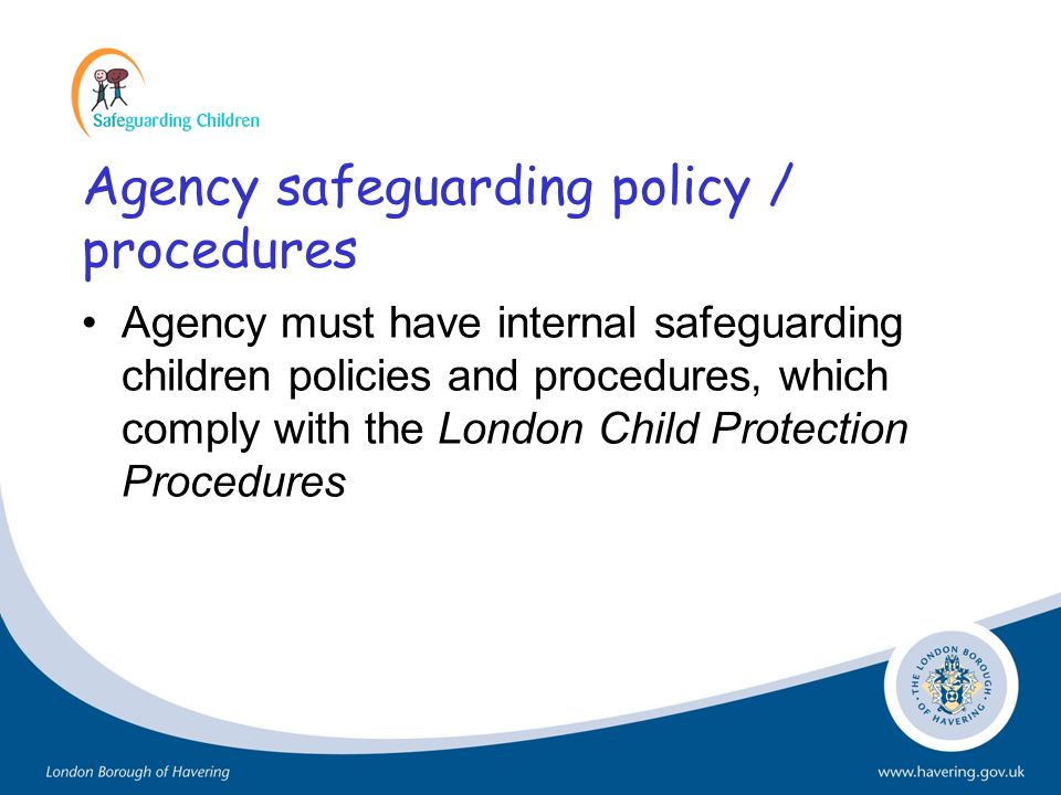 Agency safeguarding policy / procedures