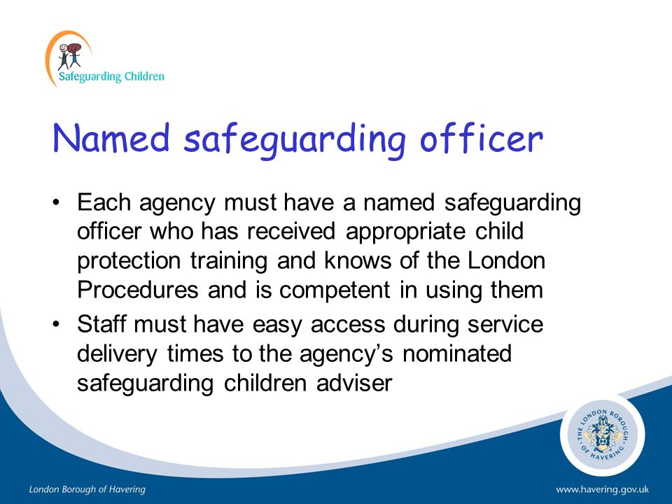 Named safeguarding officer