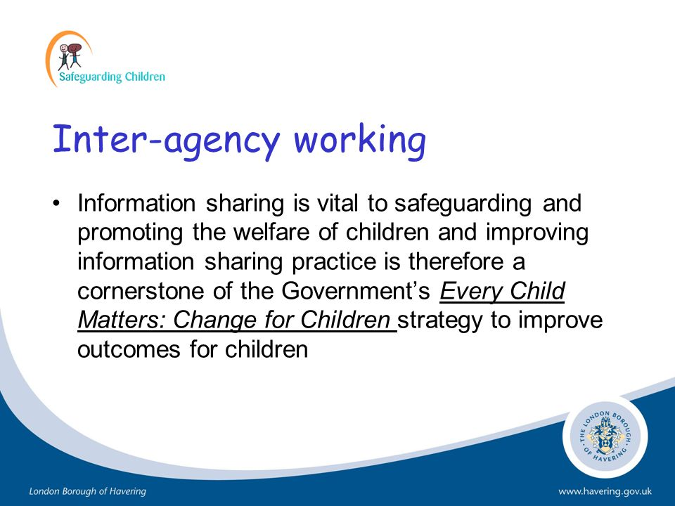 Inter-agency working
