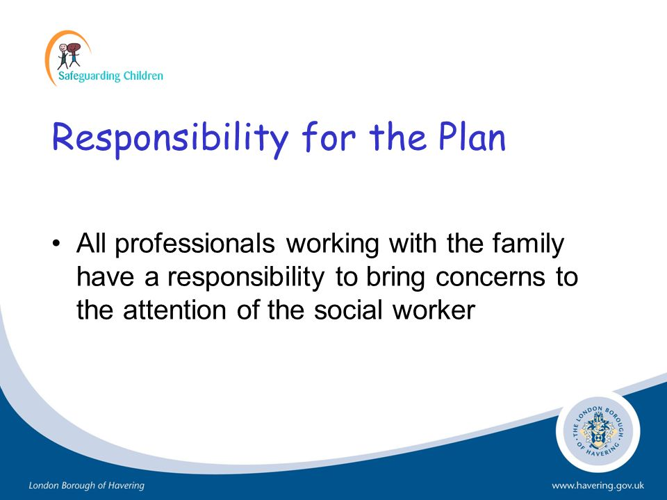 Responsibility for the Plan