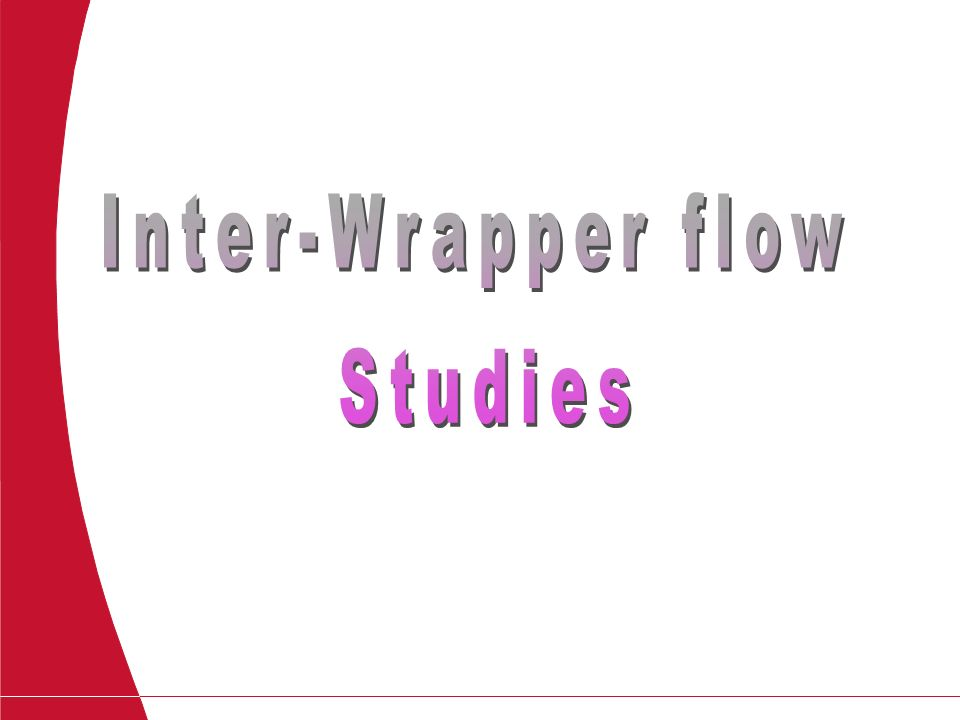 Inter-Wrapper flow Studies-Title Page