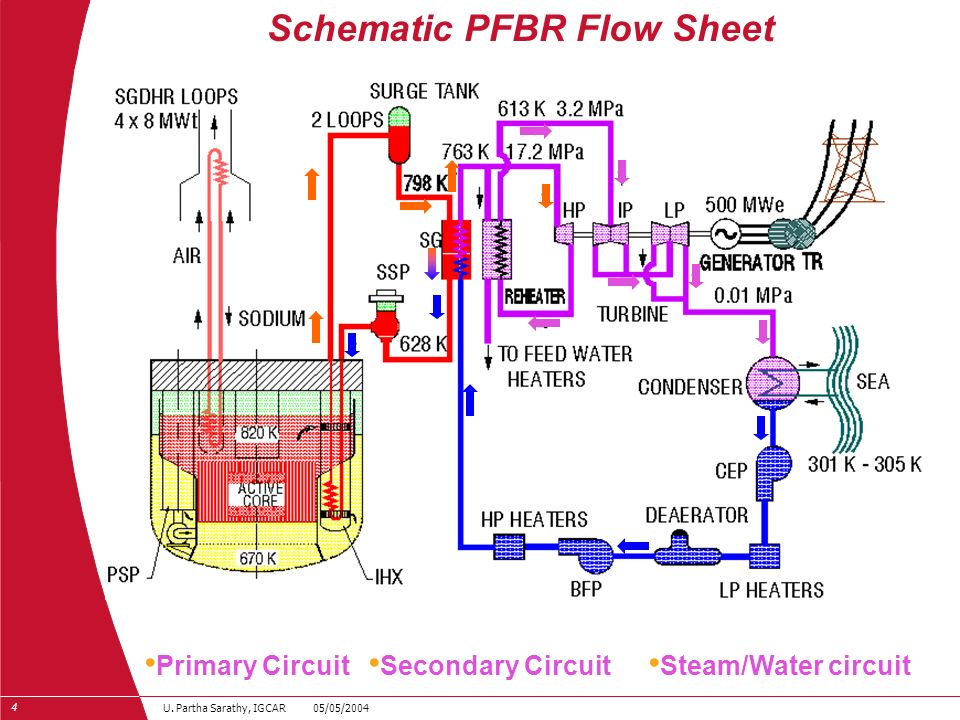 Schematic PFBR Flow Sheet