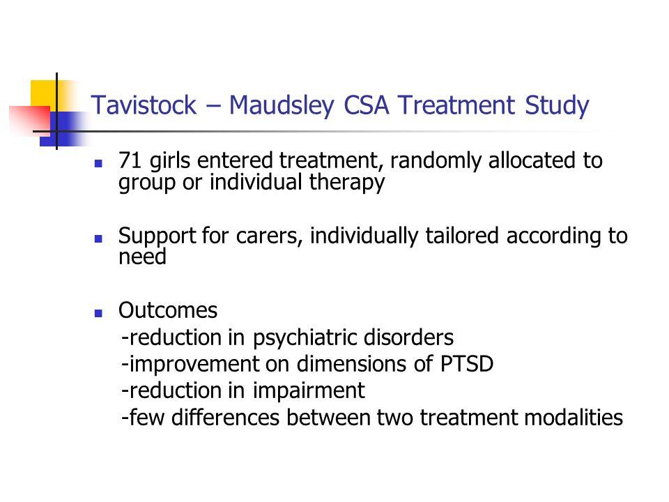Tavistock – Maudsley CSA Treatment Study