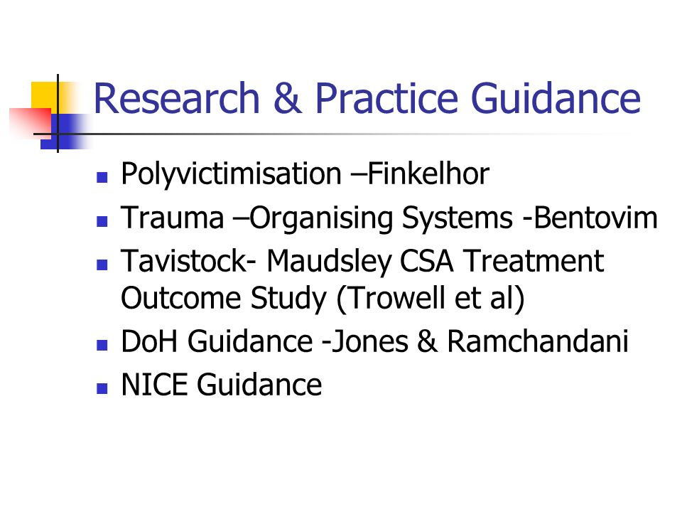 Research & Practice Guidance