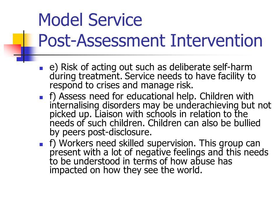 Model Service Post-Assessment Intervention