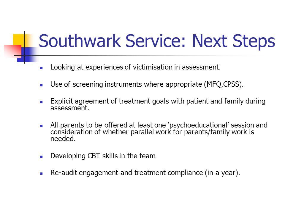 Southwark Service: Next Steps