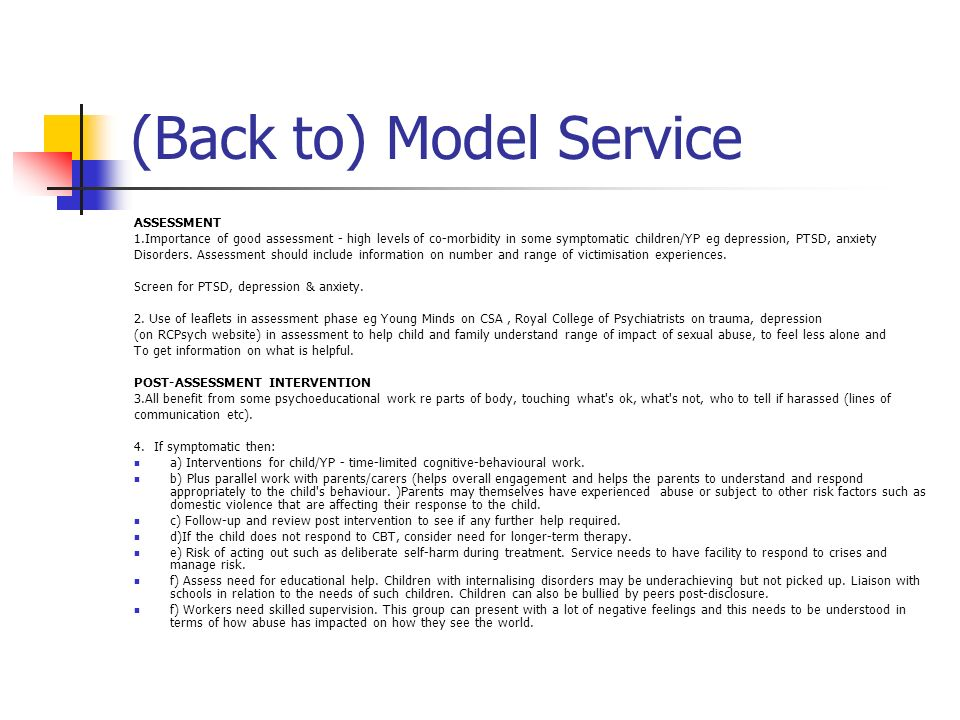(Back to) Model Service