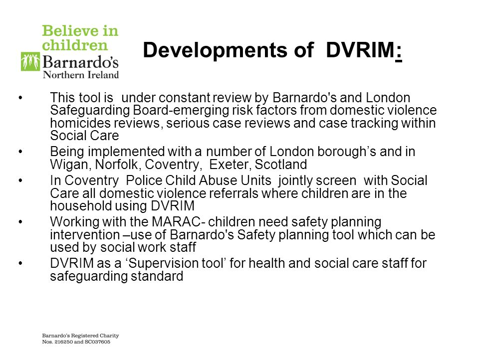 Developments of DVRIM:
