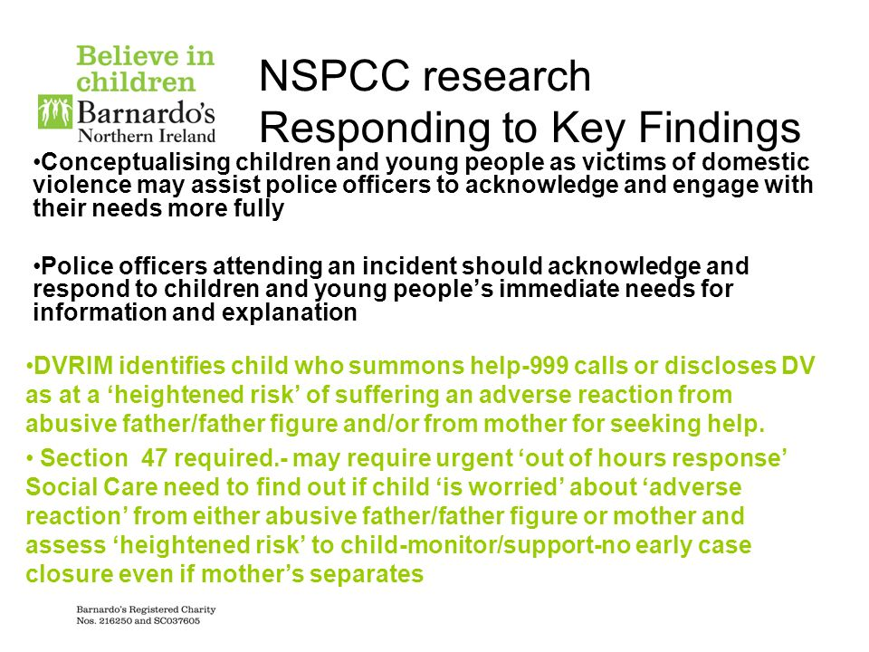 NSPCC research Responding to Key Findings