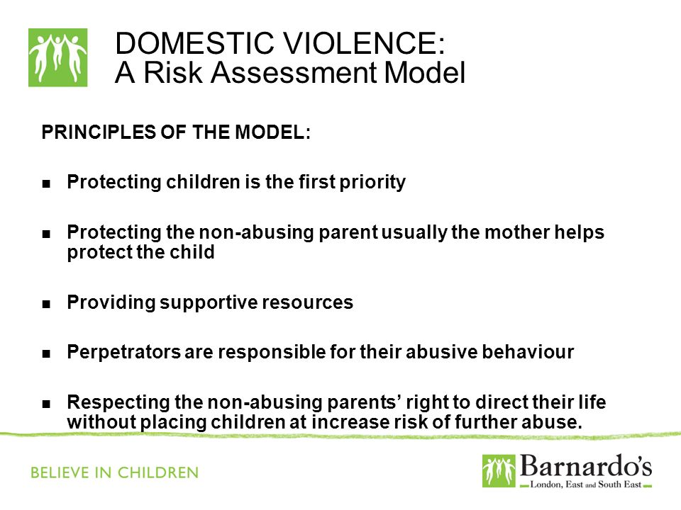 DOMESTIC VIOLENCE: A Risk Assessment Model