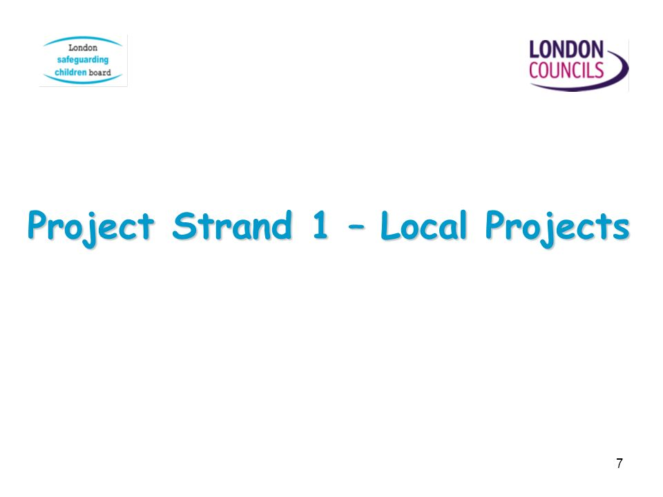 Project Strand 1 – Local Projects