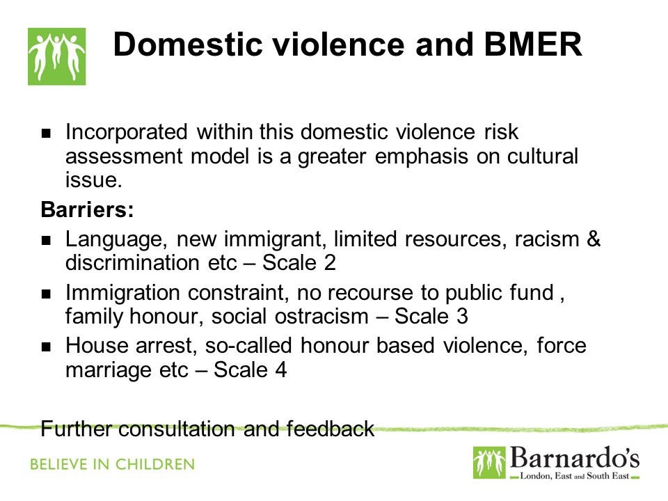 Domestic violence and BMER