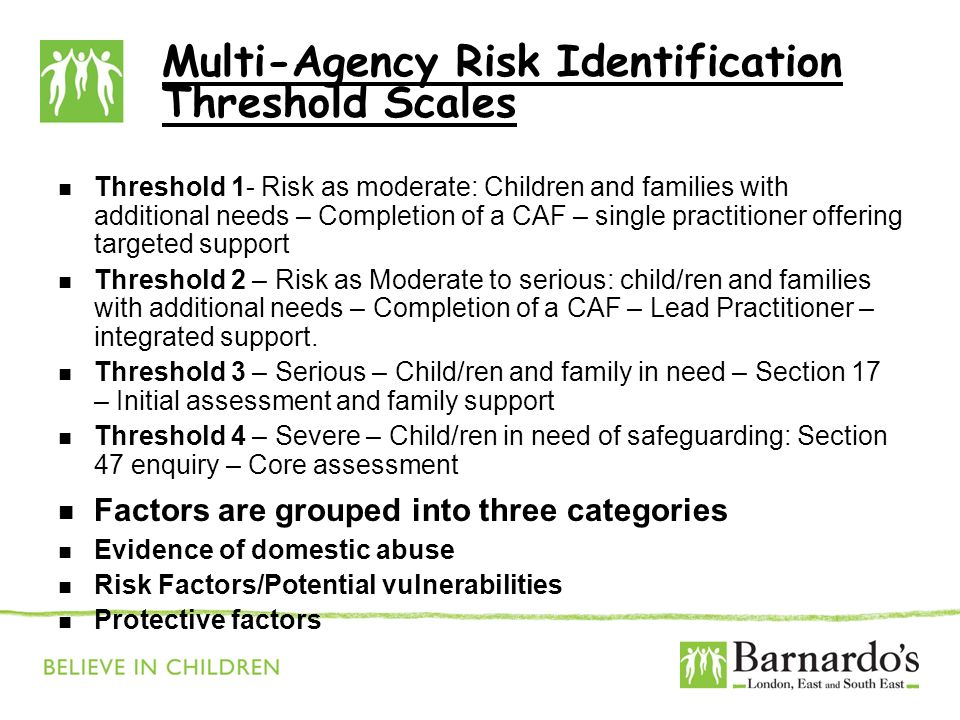 Multi-Agency Risk Identification Threshold Scales