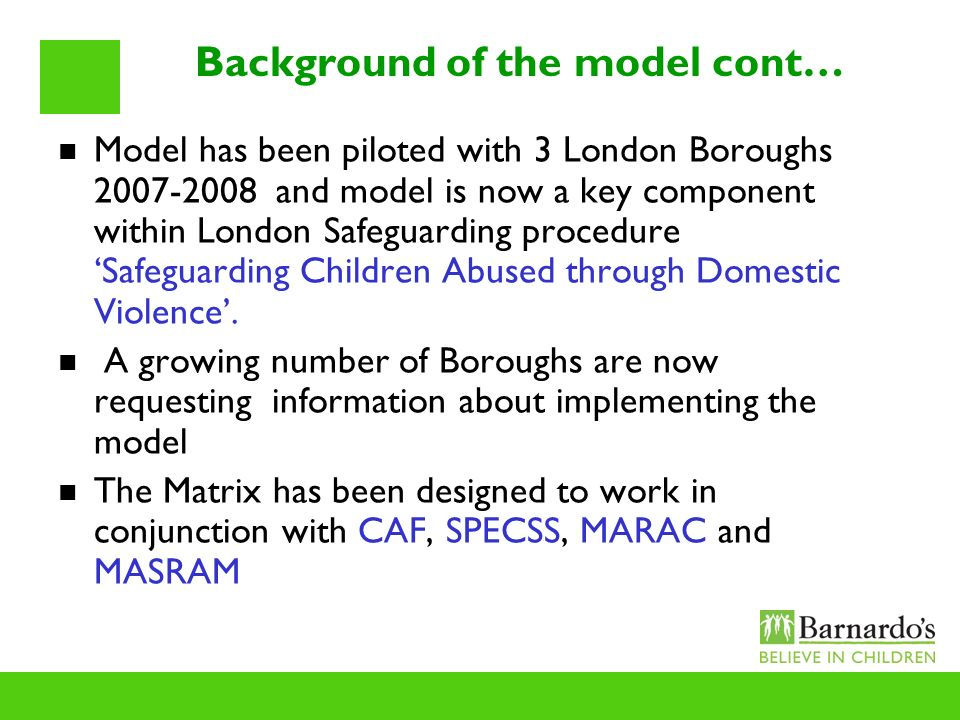 Background of the model cont…