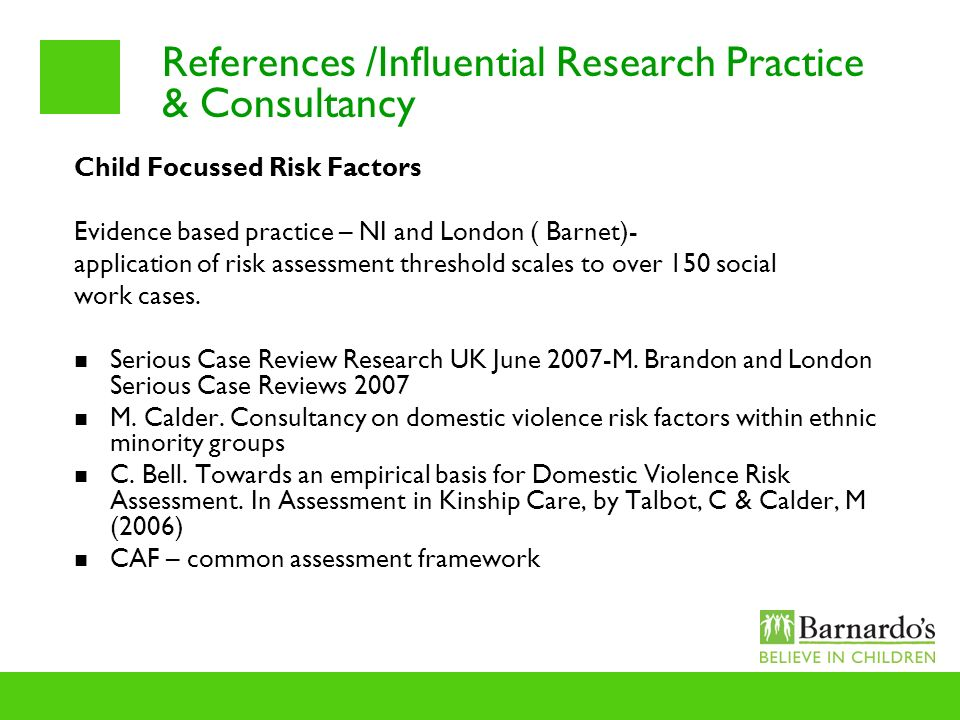 References /Influential Research Practice & Consultancy