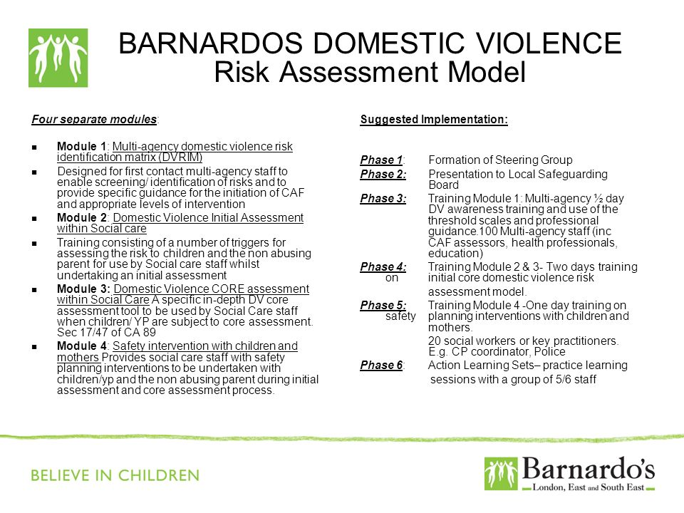 BARNARDOS DOMESTIC VIOLENCE Risk Assessment Model