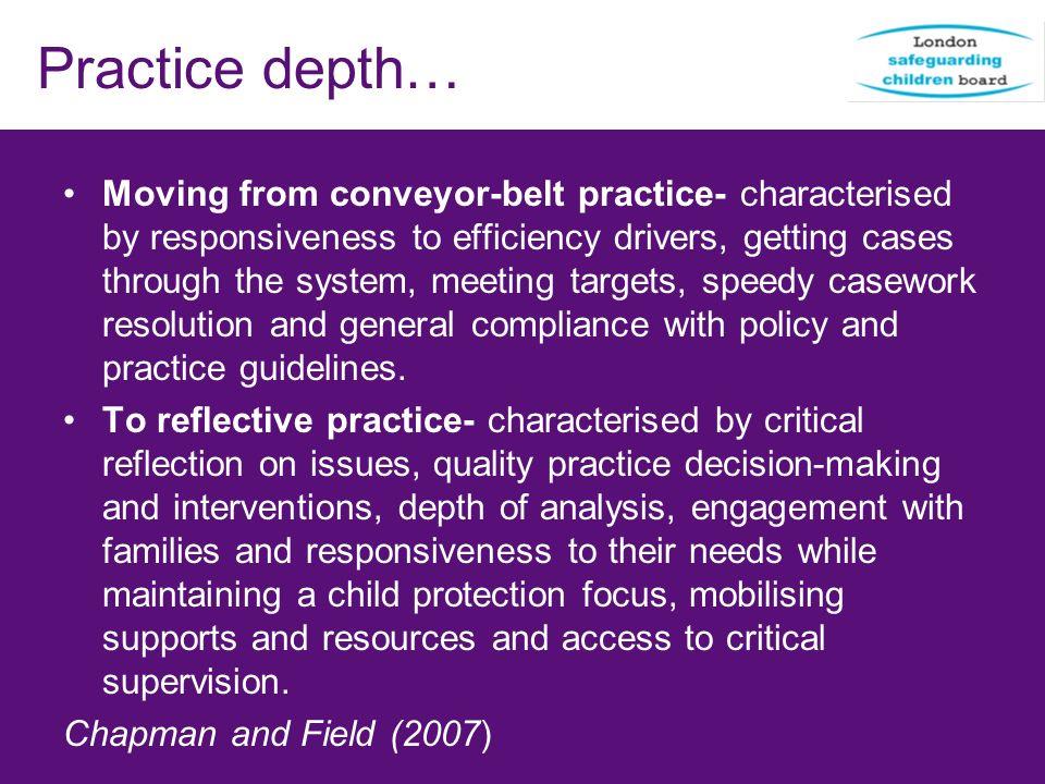 Practice depth…