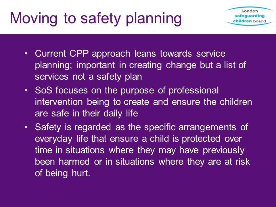 Moving to safety planning