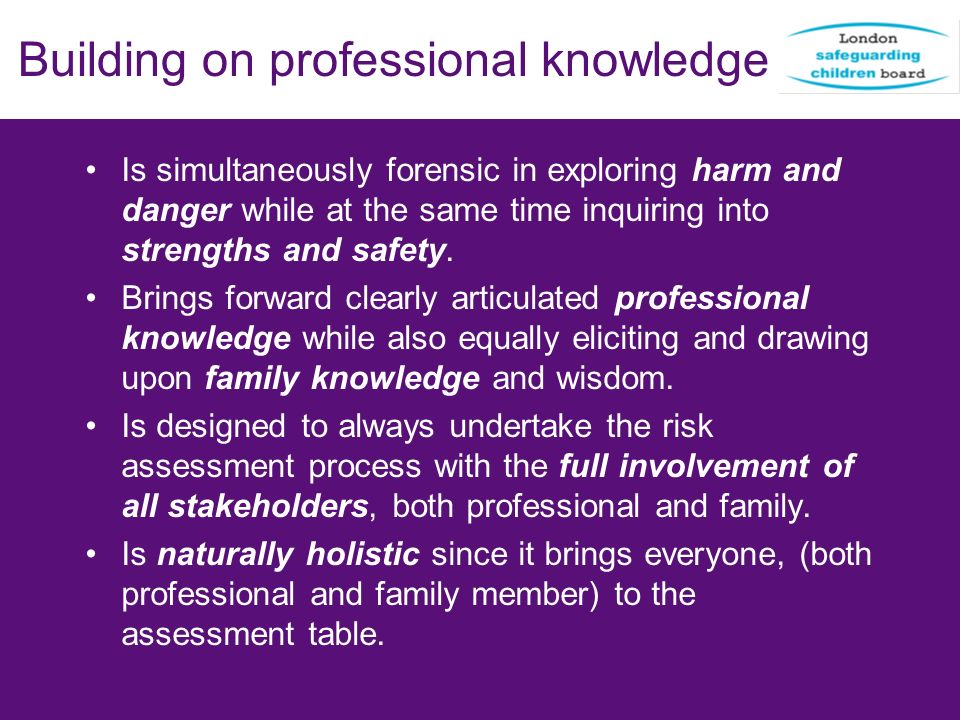 Building on professional knowledge