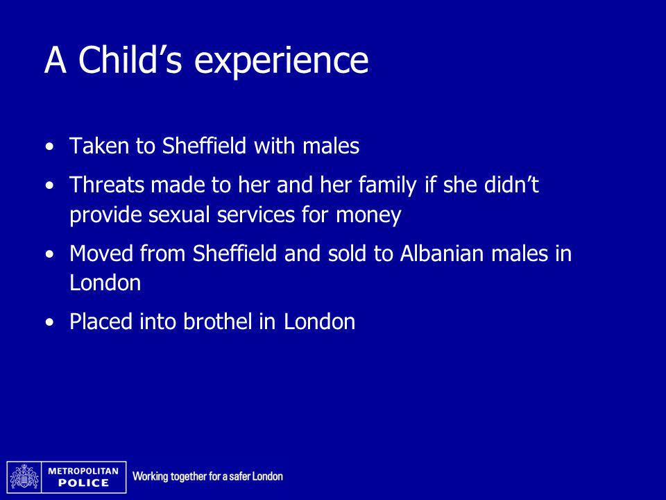 A Child's experience Taken to Sheffield with males