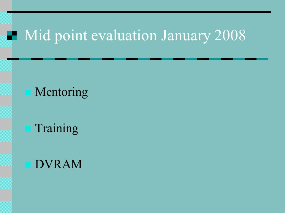 Mid point evaluation January 2008