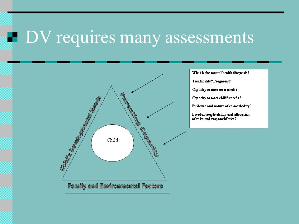 DV requires many assessments