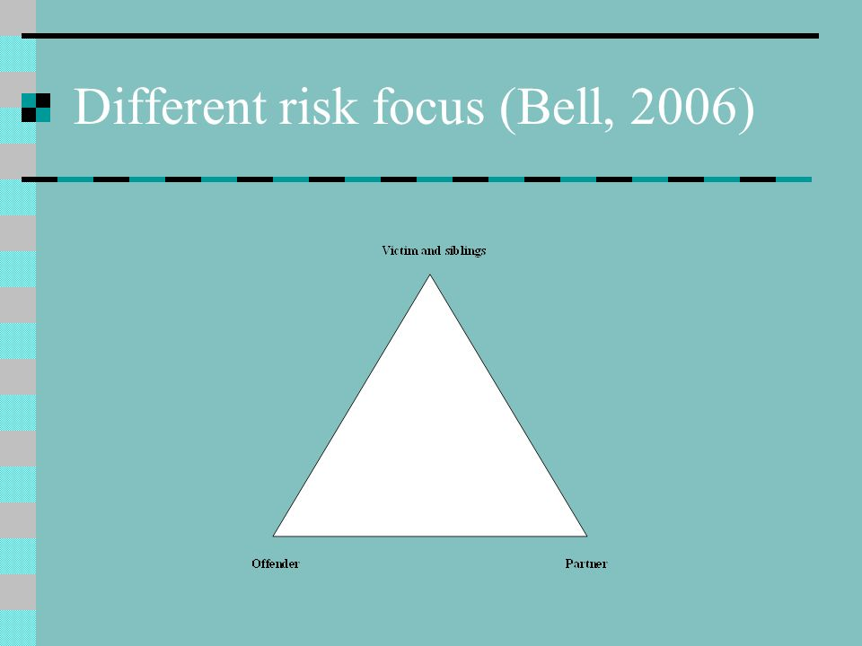 Different risk focus (Bell, 2006)