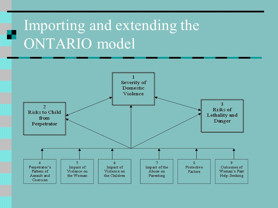 Importing and extending the ONTARIO model