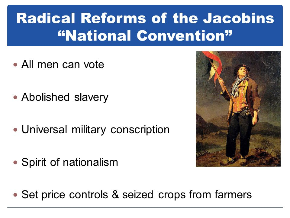 Radical Reforms of the Jacobins National Convention