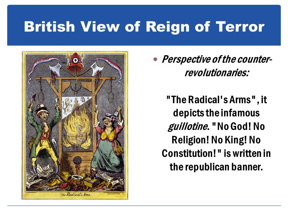 British View of Reign of Terror
