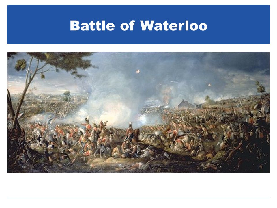 Battle of Waterloo Tried to regain control, but couldn'