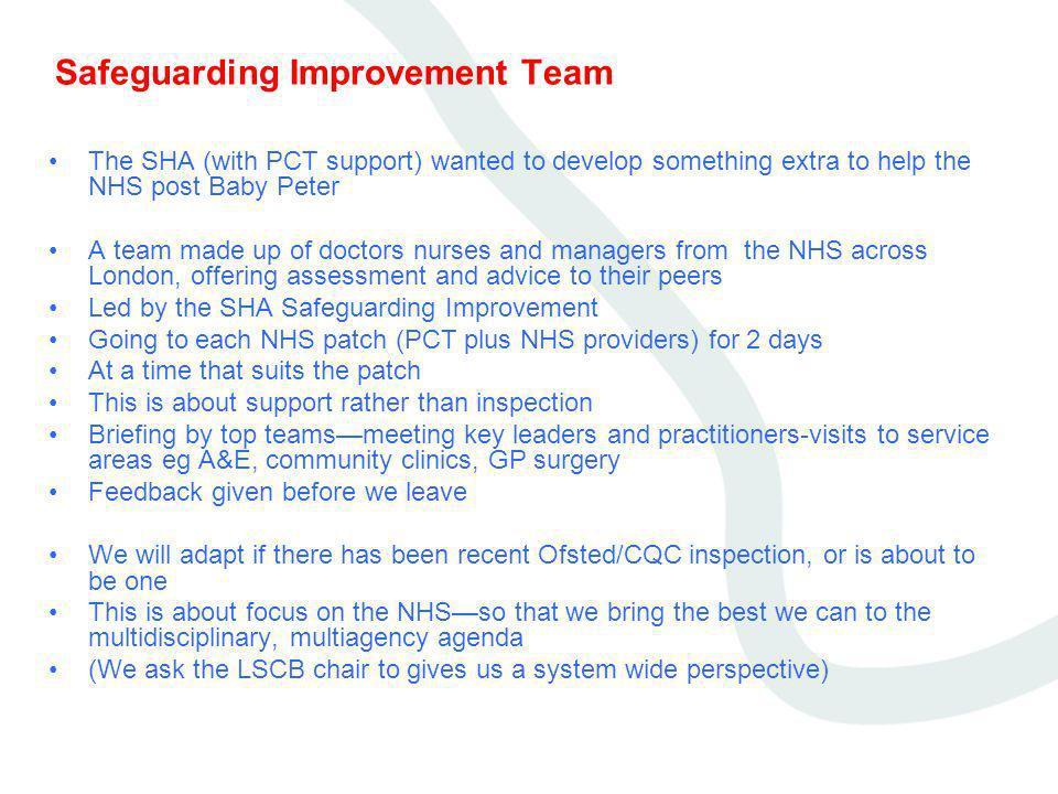 Safeguarding Improvement Team