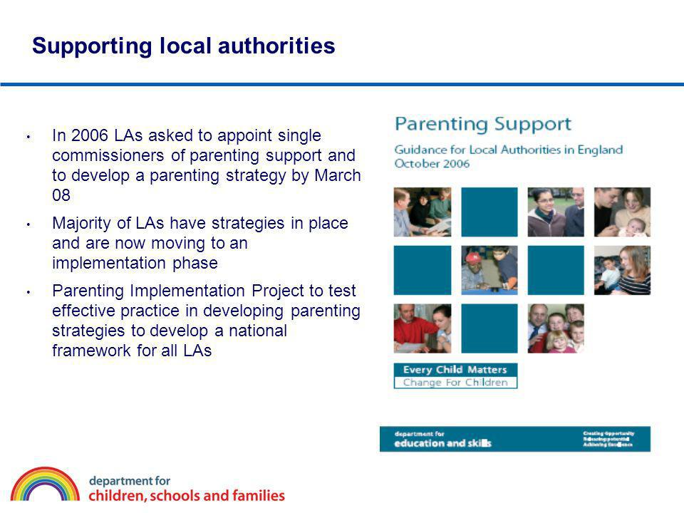 Supporting local authorities