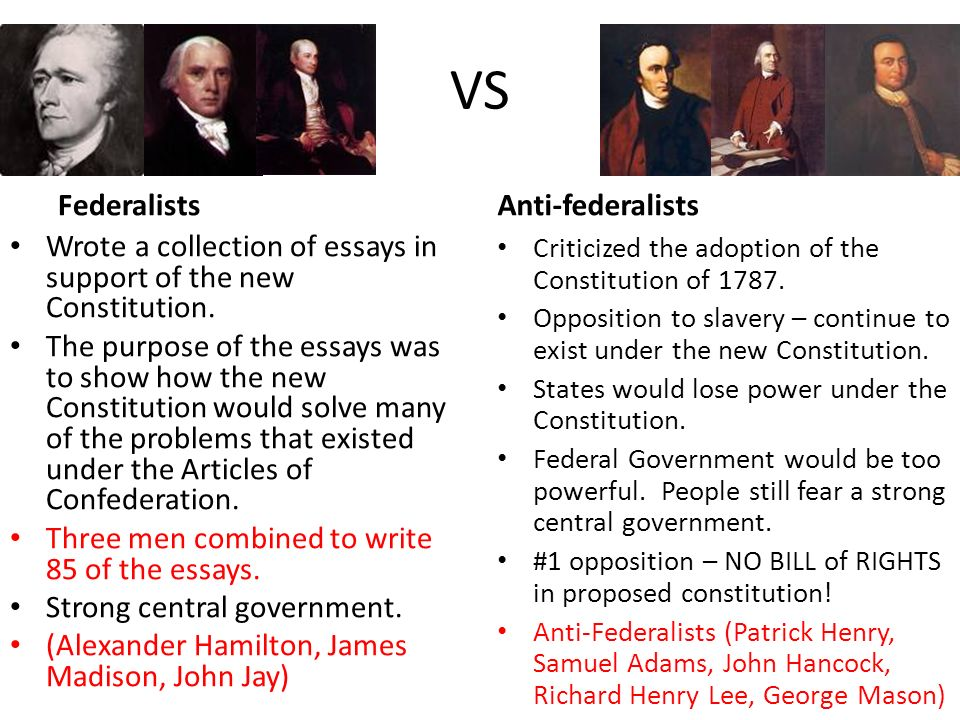 What Are the Different Political Beliefs of the Anti-Federalists & the Federalists?