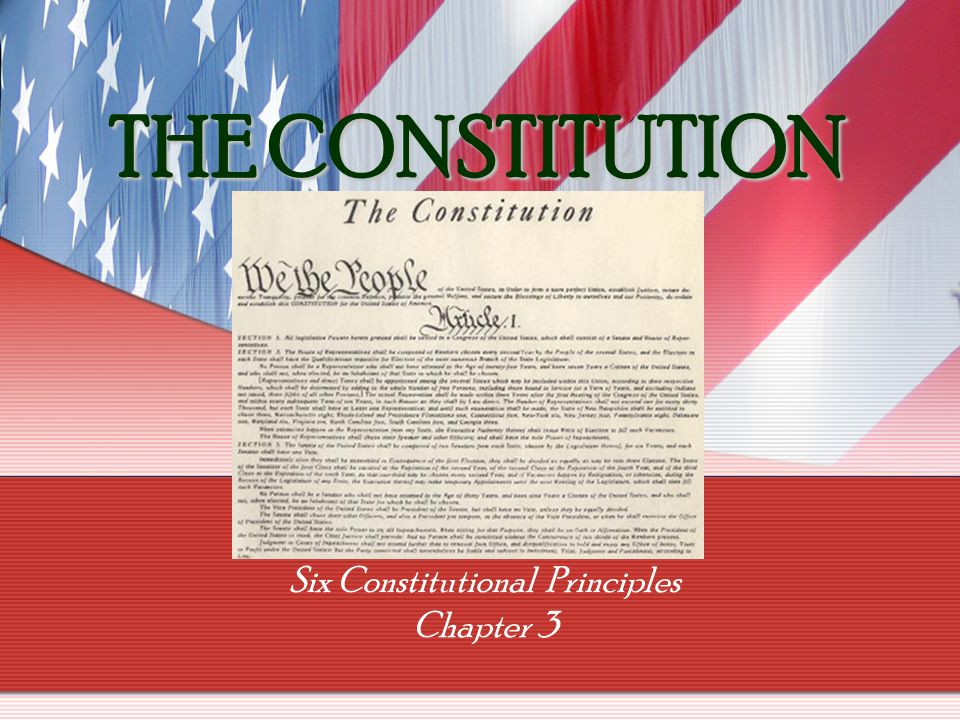 constitutional principles The doctrine of constitutional avoidance: a legal overview congressional research service summary article iii of the constitution established the judicial branch of the united states, staffing the.