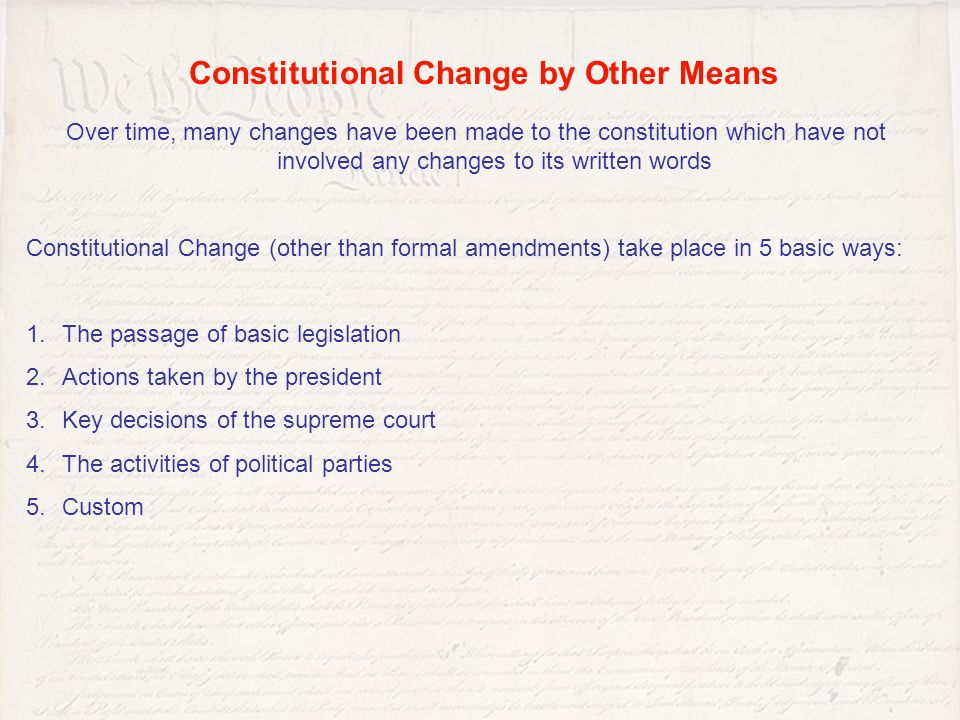 Amending The constitution. - ppt video online download