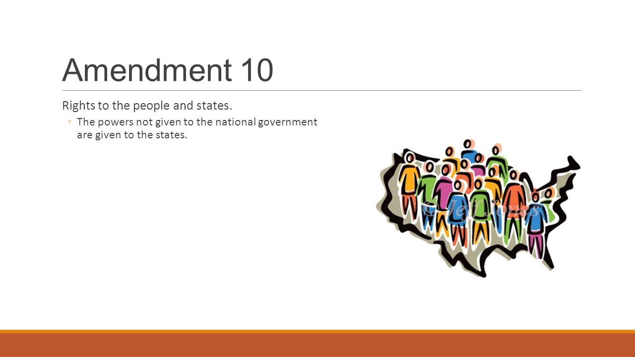 Amendment 10 Rights to the people and states.