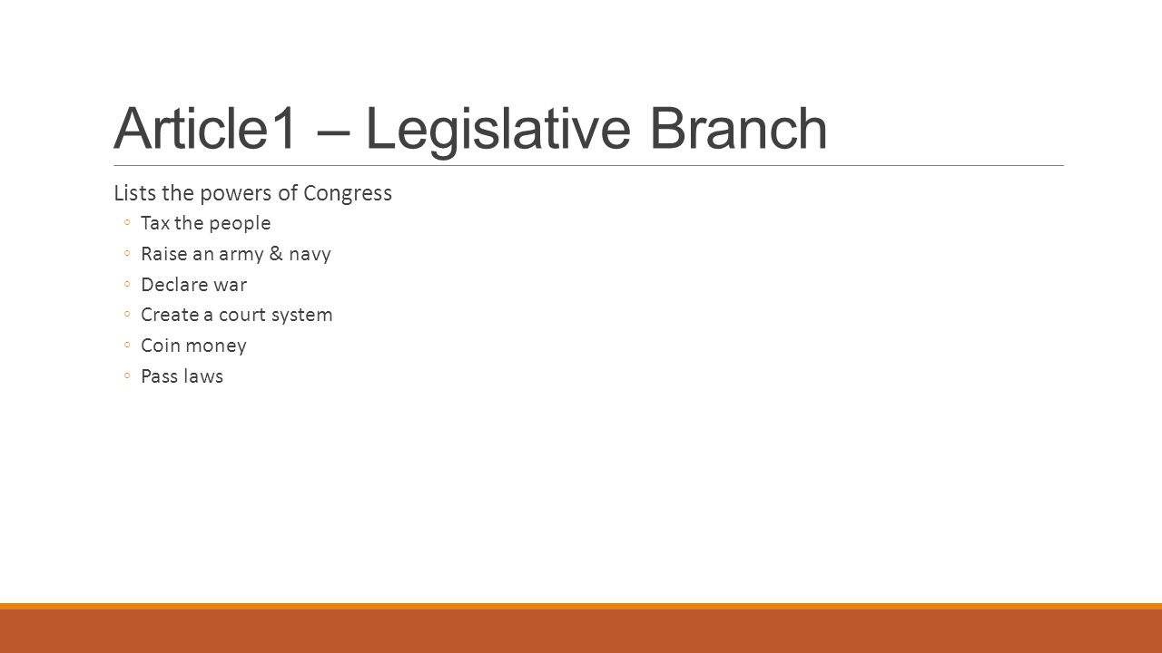 Article1 – Legislative Branch