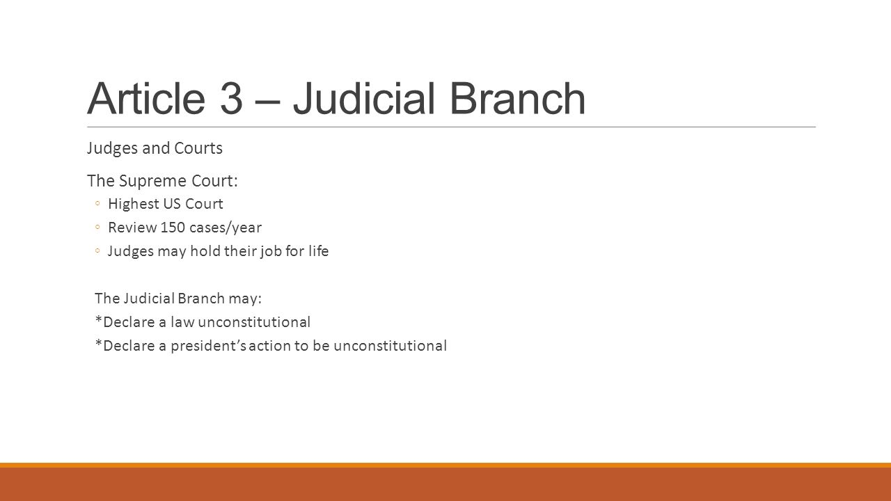 Article 3 – Judicial Branch