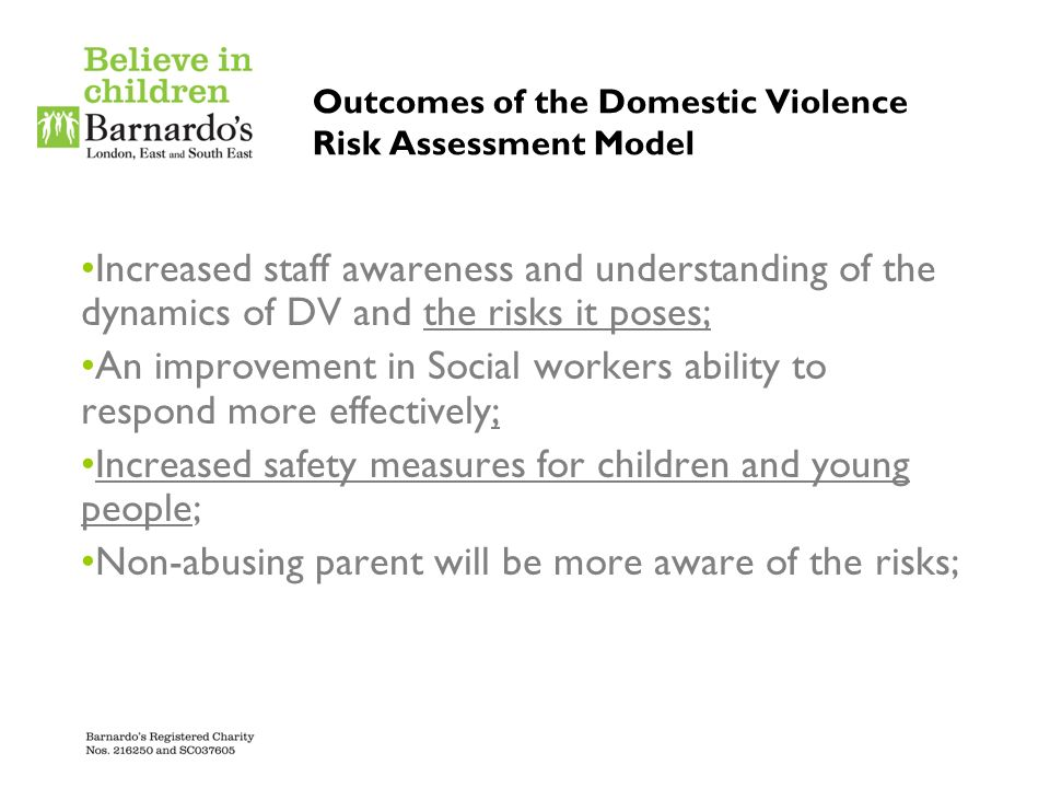 Outcomes of the Domestic Violence Risk Assessment Model