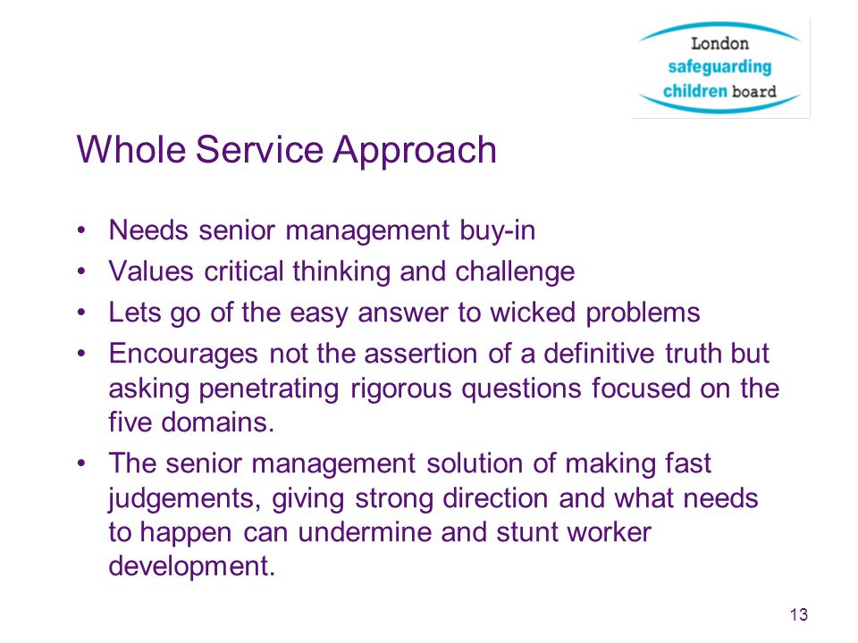 Whole Service Approach