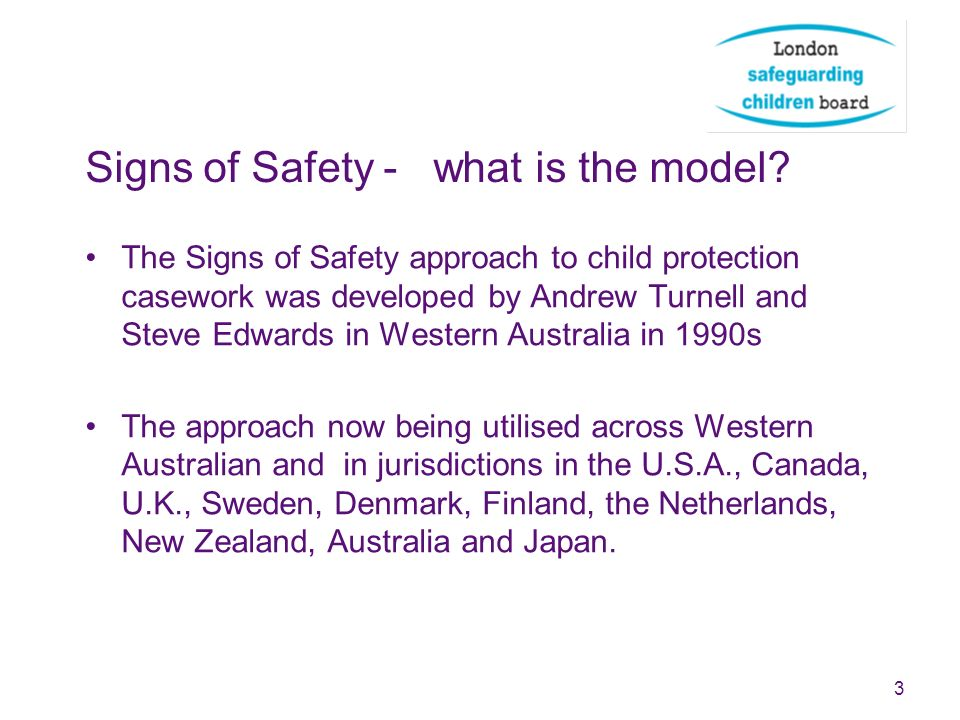 Signs of Safety - what is the model