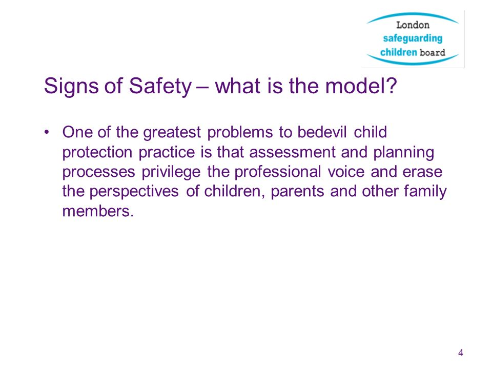 Signs of Safety – what is the model