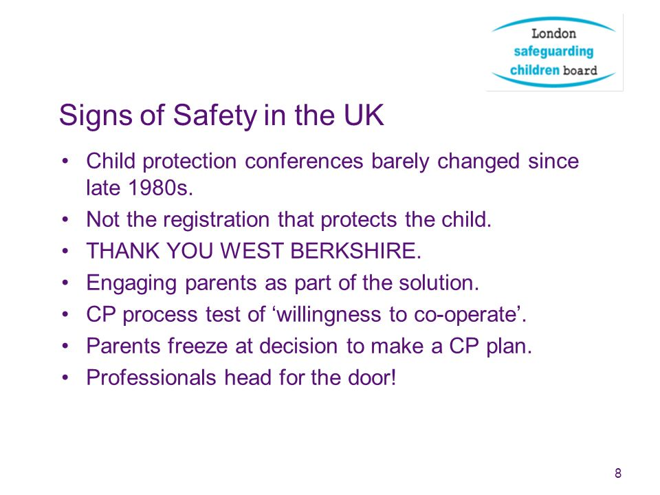 Signs of Safety in the UK