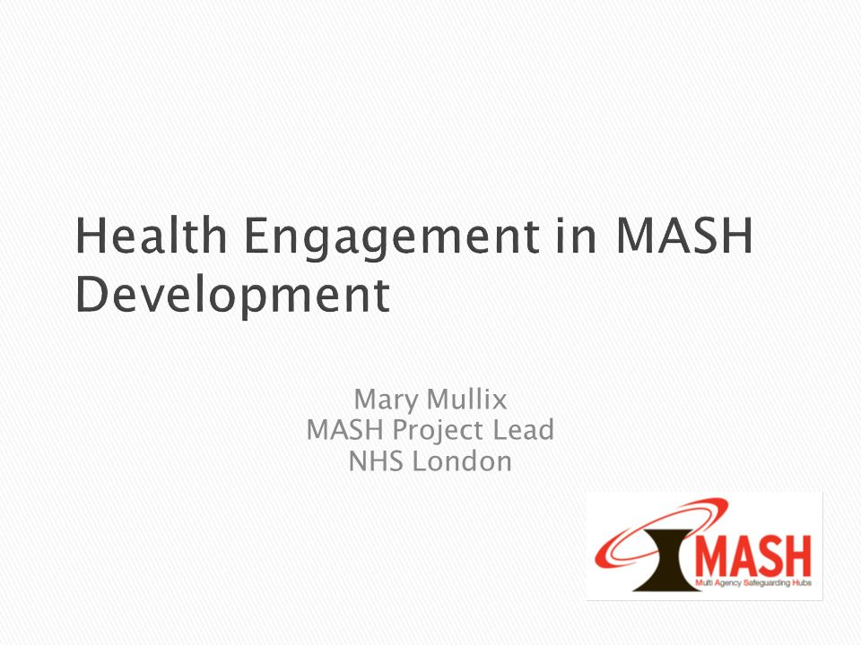 Health Engagement in MASH Development